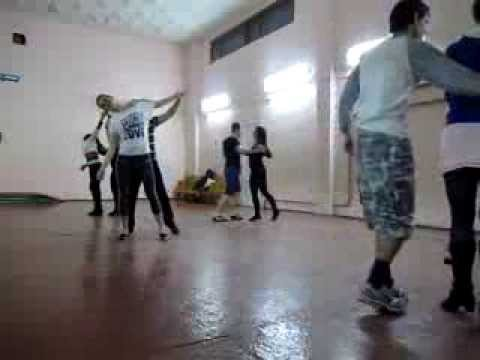 Zouk class in dance studio DancA 31 01 14 упр. голова,  связочки, рода