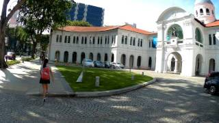 Singapore, virtual walk from National Library to Stamford Rd