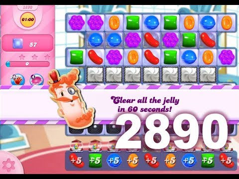 Candy Crush Saga Level 2890 (3 stars, No boosters)
