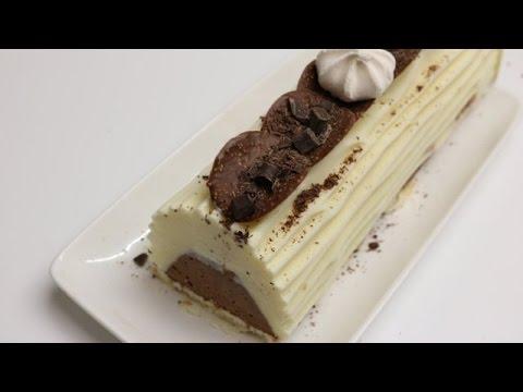 Buche de noel a la vanille chocolat