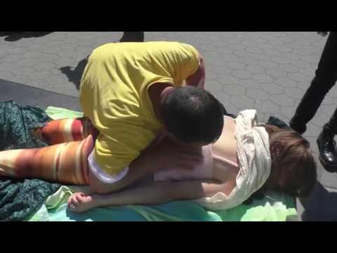 Chinese ASMR Spiritual Massage - Free Spirit Performer Washington Square Park - part 3