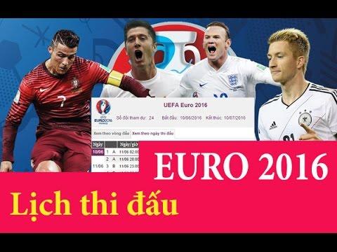 Tin Nóng Trong Ngày - lich thi dau euro 2016 , UEFA euro 2016 , Giải bóng đá vô địch châu Âu