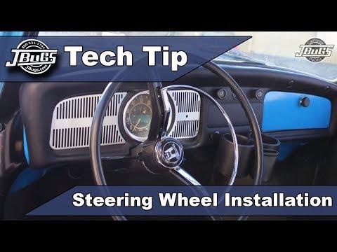 JBugs - Tech Tip - Steering Wheel Installation