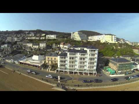 Ventnor, Isle of Wight, UK, from the air.