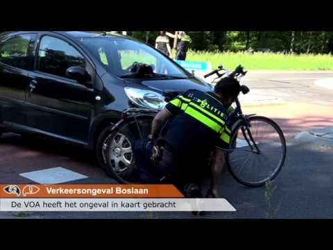 Auto En Fietsster Botsen Op De Boslaan In Emmen Youtube