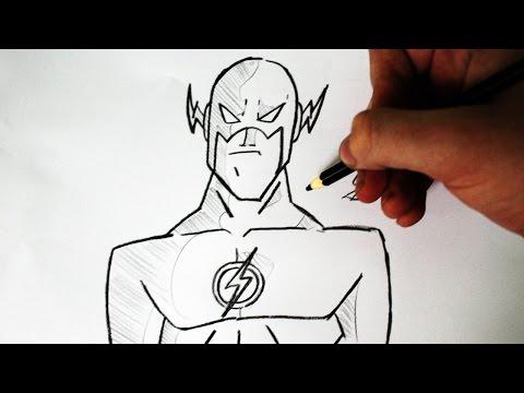 Como Desenhar O Flash Jlh Animated Series How To Draw Flash