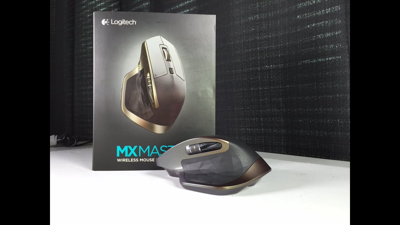 274bae57b9b Logitech MX Master Wireless Laser Mouse Unboxing And First Look ...