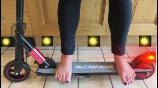 Megawheels S1 Electric Scooter Ultra Light Red Uk Unboxing Full Review