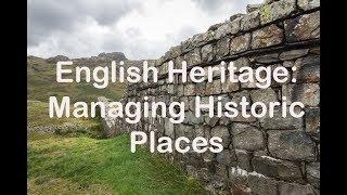 English Heritage: Managing Historic Places