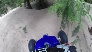 yfz 450 doing tree shots sand lake july 2016