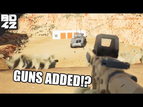 WAIT... THEY ADDED GUNS!? BRICK RIGS INFANTRY!! & AI ZOMBIES TOO!!