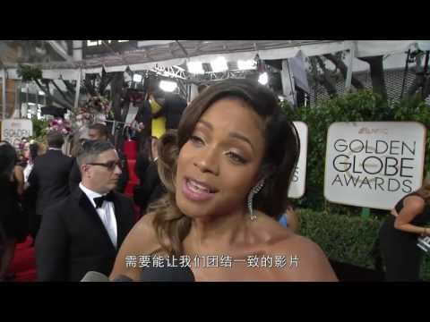 Naomie Harris 'Moonlight' Golden Globes Red Carpet Interview