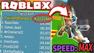 I AM THE FASTEST PLAYER in PARKOUR SIMULATOR!! *4,000,000+ EXP!* (Roblox)