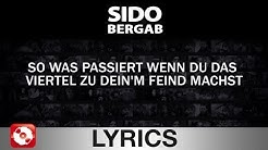 SIDO - BERGAB AGGROTV LYRICS KARAOKE (OFFICIAL VERSION)