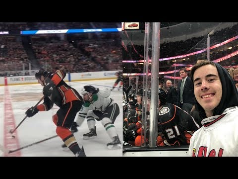 Front Row Seating At An NHL Game!