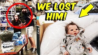 Shopping with Reborn Baby Doll at Costco with Reactions