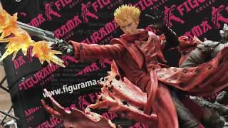 A look at the Vash the Stampede statue that was on display at the F...