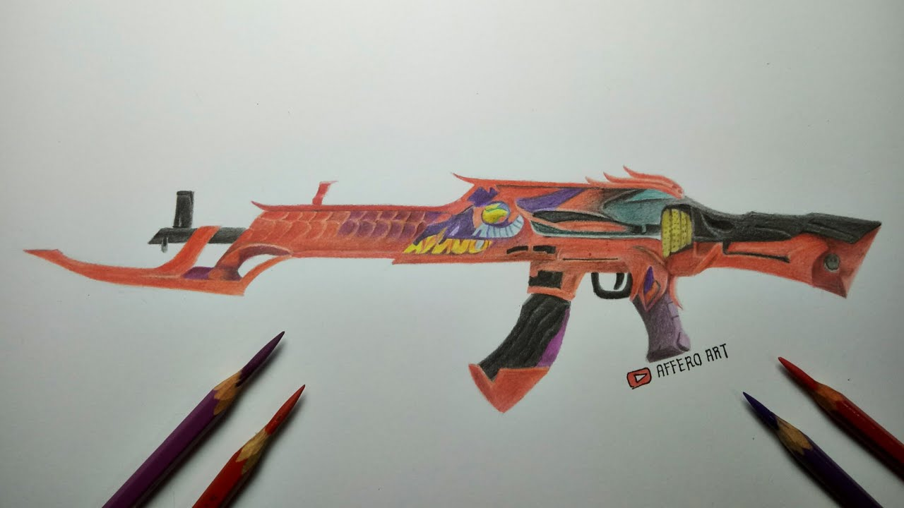 Menggambar Ak47 Incubator Gambar Senjata Free Fire Ff Drawing Youtube