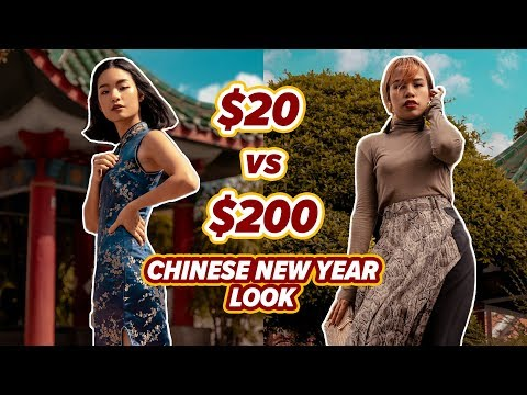 Chinese New Year Outfits | $20 vs $200 | EP 2