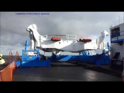 Barge Master motion compensated platform operation at North Sea