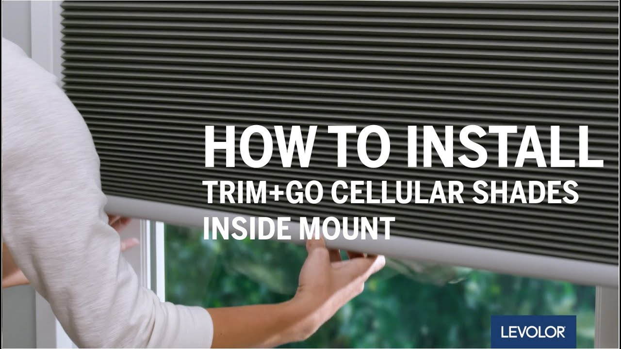 How To Install Levolor Trim Go Cellular Shades Inside Mount Youtube