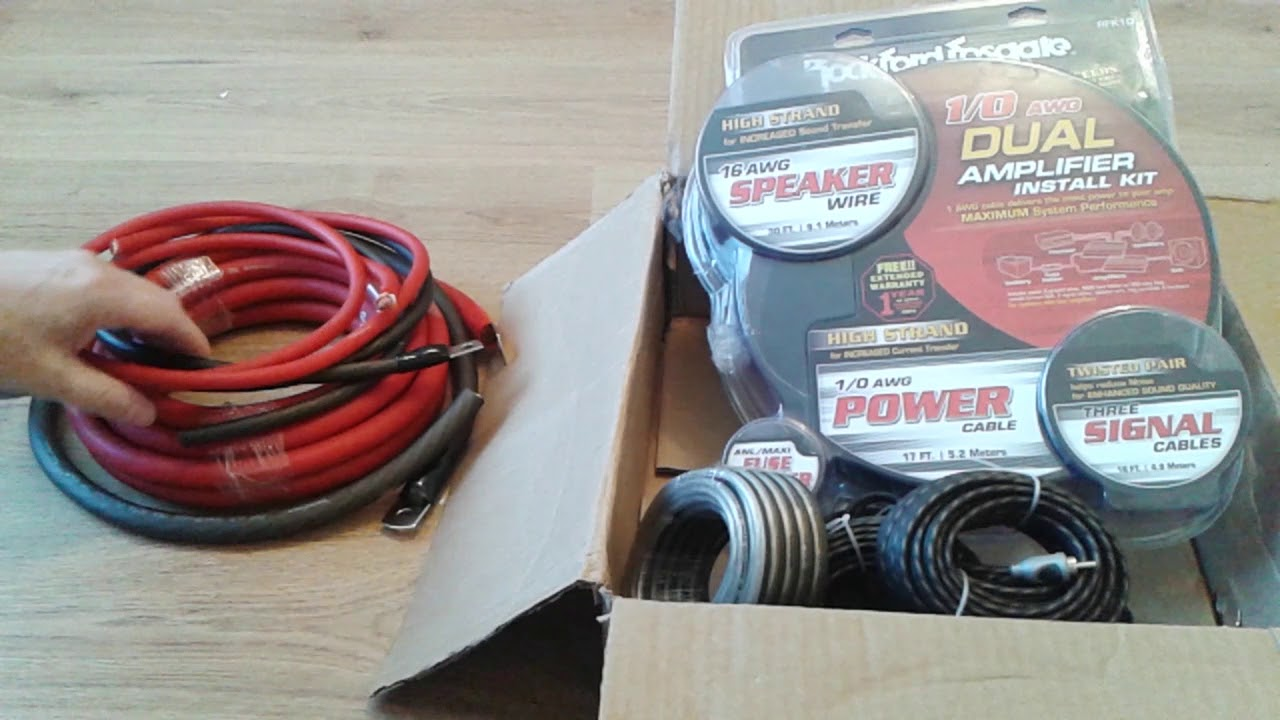 rockford fosgate rfk1d 1 0 awg dual amplifier install kit [ 1280 x 720 Pixel ]