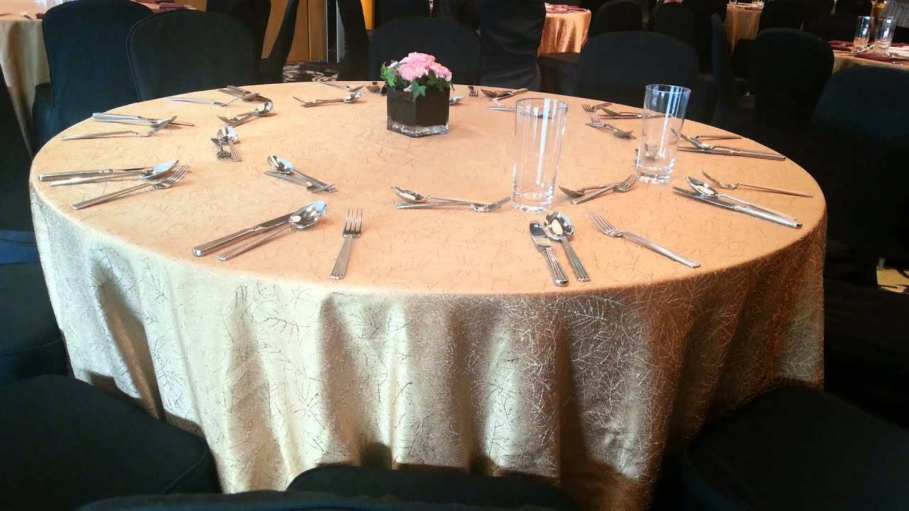 International Buffet Banquet Setup - YouTube