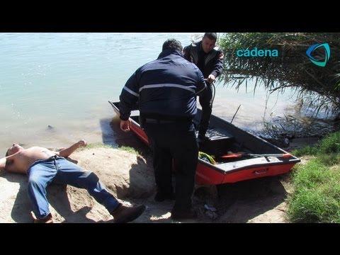 Cuerpo de rescate acuático de Nuevo Laredo rescata a cinco migrantes del Río Bravo