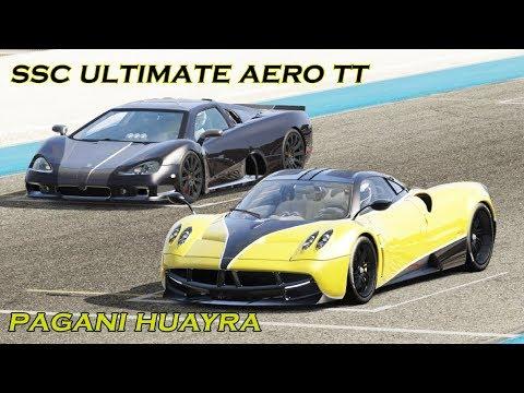 SSC Ultimate Aero TT vs Pagani Huayra at Paul Ricard / Assetto Corsa