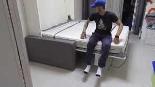 видео Диван-кровать-шкаф-трансформер