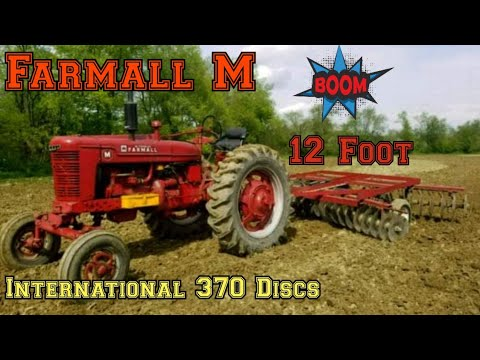 Farmall M Discing With International 370 Discs