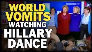 WORLD VOMITS AS HILLARY DANCES TO FIGHT SONG BY RACHEL PLATTEN