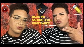 QUICK & EASY FULL COVERAGE BACK TO SCHOOL MAKEUP TUTORIAL!!!