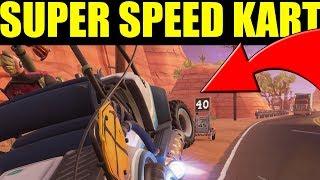 "How To Go EVEN FASTER! In The ""All Terrain Kart"" Fortnite Tips & Tricks"