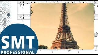 Как играть на баяне Под небом Парижа (Французский вальс) | How to play on accordion | SMT Pro