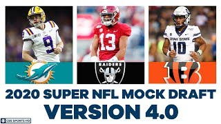 FULL First Round NFL Mock Draft WITH Trades | 2020 Super NFL Mock Draft 4.0 | CBS Sports HQ