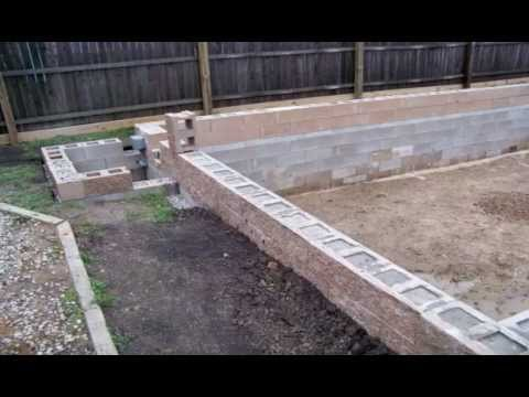 Homebuilt diy concrete block swimming pool youtube for Build your pool