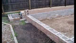 Building a mailbox with concrete blocks woodworking - Cinder block swimming pool construction ...