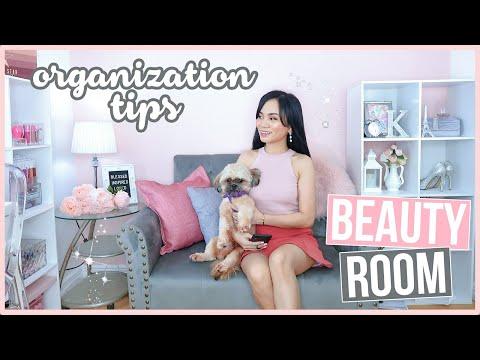 MY BEAUTY ROOM DECOR & DECLUTTER ❤️ | Home Decor Tips! thumbnail