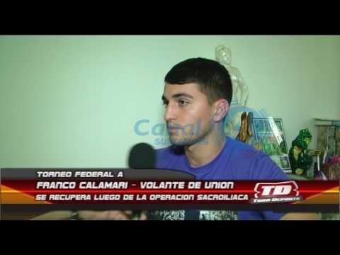 TFA   Franco Calamari se recupera de la operación sacroiliaca