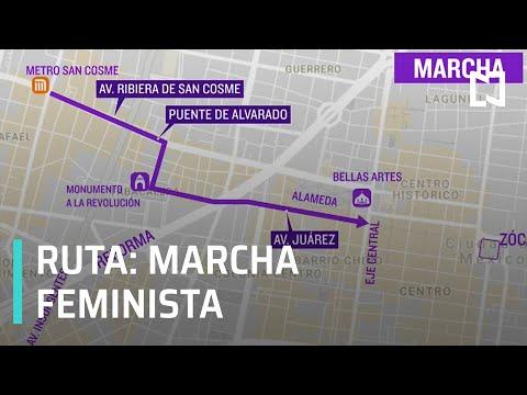 Ésta será la ruta de la marcha feminista de este 25 de noviembre 2020 - Despierta