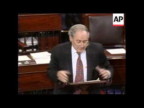 USA: WASHINGTON: SENATE VOTE TO LIFT ARMS EMBARGO AGAINST BOSNIA