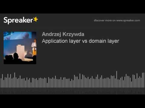 Application layer vs domain layer