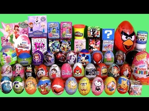 Giant 55 SURPRISE EGGS SURPRISE BOXES PlayDoh Frozen MLP Min