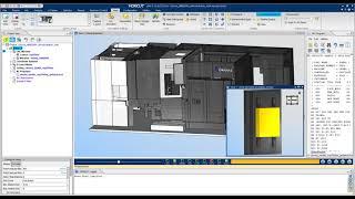 VERICUT CNC Simulation of an Okuma MB8000H