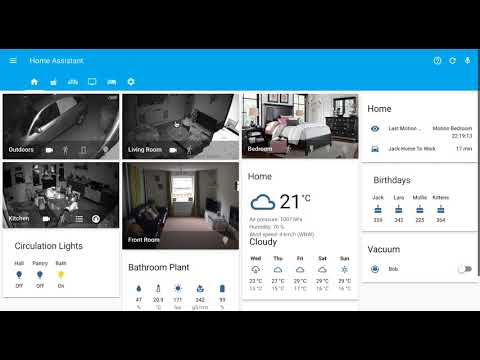Home assistant - lovelace ui example - YouTube