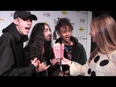 Harry Hudson and Jaden Smith support Mateo Arias at