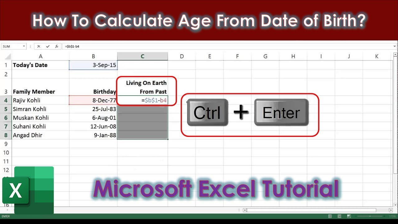 How to calculate the date of birth
