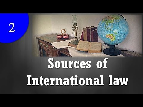 Sources of International law  YouTube