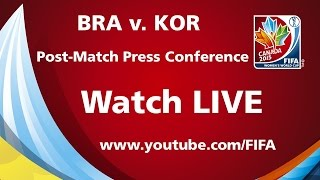 Brazil v. Korea Republic - Post-Match Press Conference